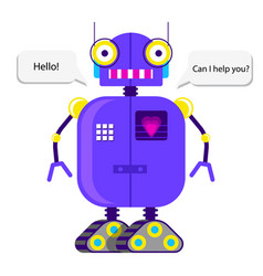 robot in flat style vector image
