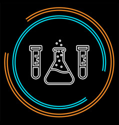 science lab flask - laboratory tubes vector image