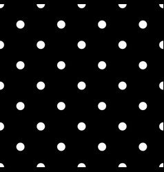 Seamless polka dot pattern memphis group style vector