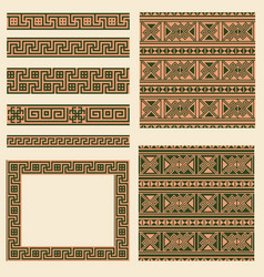 set collections of ethnic greece design vector image