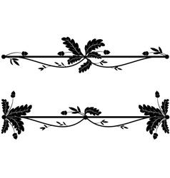 set oak vignettes vector image