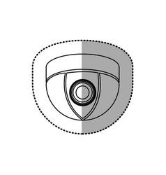 silhouette video camera technology computer icon vector image