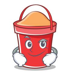 Smirking bucket character cartoon style vector