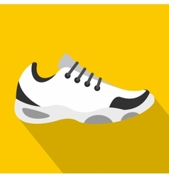 Sneakers for tennis icon flat style vector