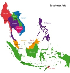 Southeastern asia map vector