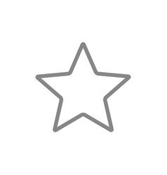 Star customer reviews line icon rating add vector