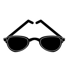 sunglasses fashion lens vector image