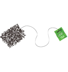 teabag made from tea leaf concept vector image