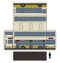 The simple paper model of a double decker vector