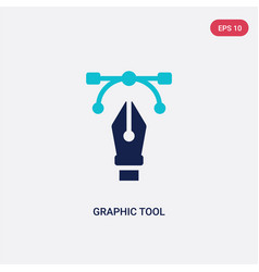 two color graphic tool icon from creative pocess vector image