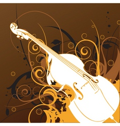 violin graphic vector image