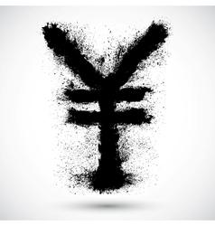 Yen grunge sign vector image