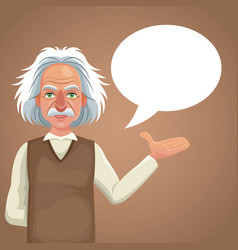 character scientist physical bubble speech vector image