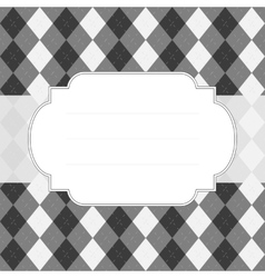 Classic style argyle background vector image vector image