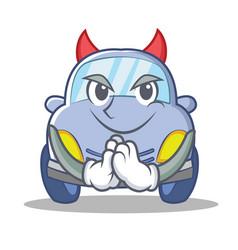 devil cute car character cartoon vector image vector image
