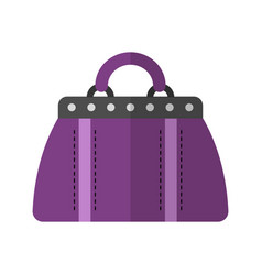 holdall bag flat color icon of vector image
