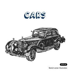 Old car vector image