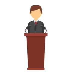 podium candidate isolated icon design vector image
