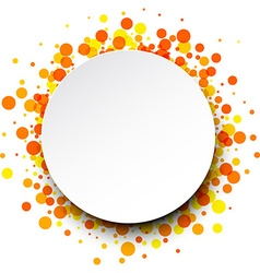 Round background with drops vector image