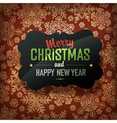 xmas card design on red vector image