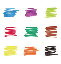Colorful marker stains vector