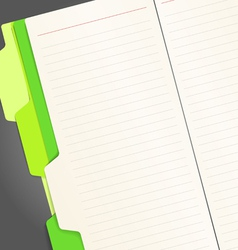 Copy-book pages vector image