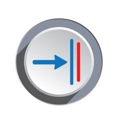 Deadline move icon Direction cursor arrow to vector image vector image