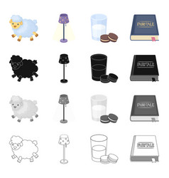information rest sleep and other web icon in vector image