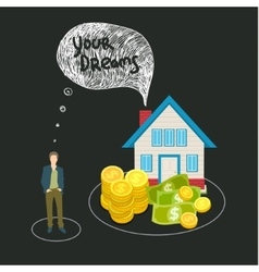 Mortgage and credit concept vector image