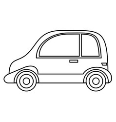 Taxi automobile vehicle outline vector