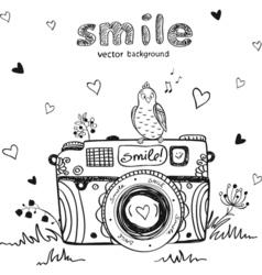 camera creative vector image vector image