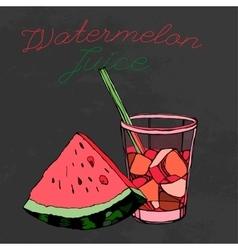 Hand drawn Watermelon 02 A vector image vector image