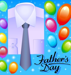card for fathers day with balloons vector image vector image