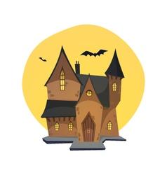 Cartoon Haunted House vector image