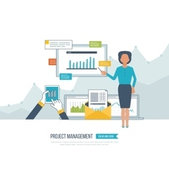 Concept for project management investment vector image vector image