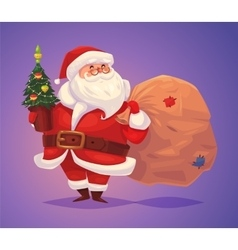 Funny santa Christmas greeting card background vector image vector image