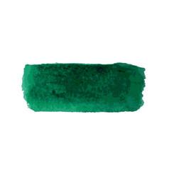 green watercolor smear brush strokes vector image