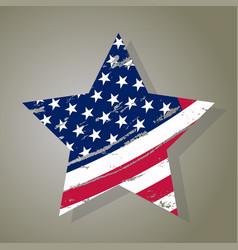 usa star grunge american flag vector image
