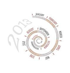 2013 calendar spiral vector