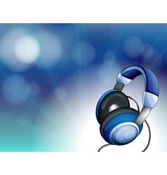 A blue headset vector