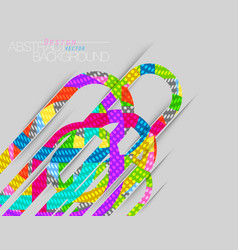 Abstract colors concave scene on gray vector