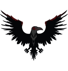 Angry Dark Raven vector image