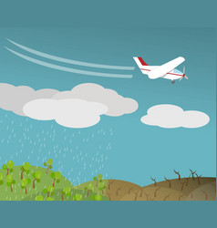 Artificial rain rainmaking cloud seeding vector