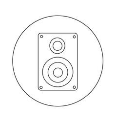 audio speakers icon design vector image