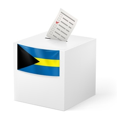 Ballot box with voting paper commonwealth the vector