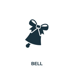 bell icon premium style design from christmas vector image