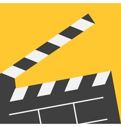 Big open clapper board Movie cinema collection vector
