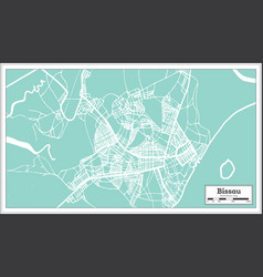 bissau republic of guinea-bissau city map in vector image