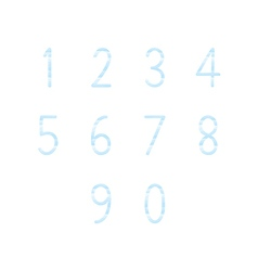Blue hand write numbers set1 vector