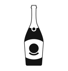 cabernet champagne icon simple style vector image